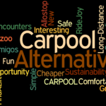 Carpool Word Cloud. The Alternative Ways