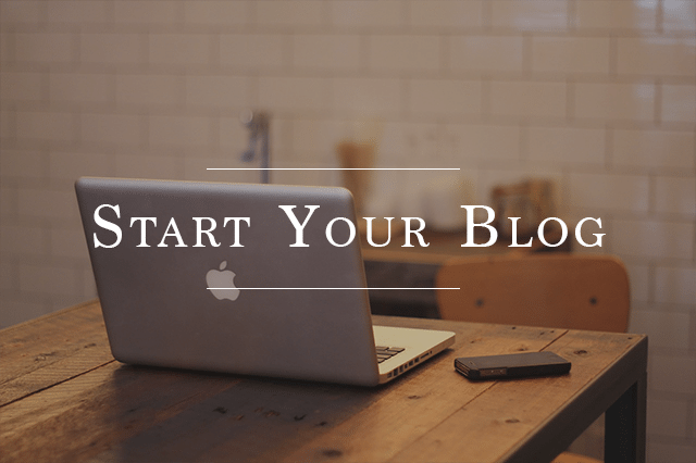 start a professional blog